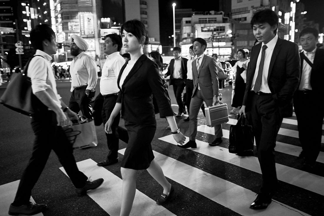 businessman or salrayman in Japan